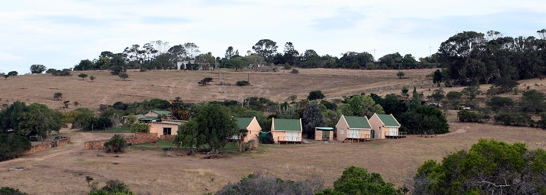 The Eastern Cape hunting camp's hilltop perch.