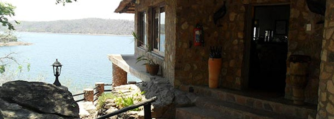 The Binga camp overlooks Lake Kariba.