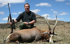 The endemic blesbok hunted in South Africa's Free State.