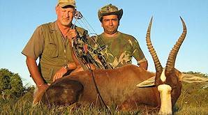 A blesbok hunted with a bow.