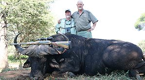 A successful buffalo hunt in South Africa.