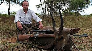 A bushbuck hunted on safari in South Africa.