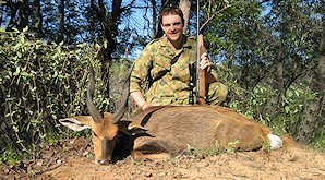 The Chobe bushbuck can be hunted in Zimbabwe.