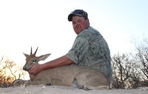 A successful grey duiker hunt in South Africa.