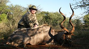 A kudu hunted in the bushveld.