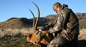 A red lechwe hunted in South Africa's Free State province.
