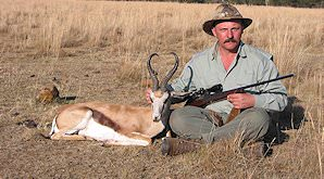 A springbok hunt in the open plains.