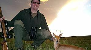 A steenbok taken on a hunting safari in South Africa.