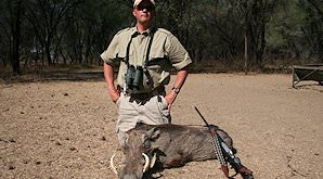 Warthog can be hunted throughout Southern Africa.