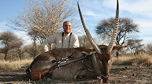 A striking waterbuck trophy hunted in South Africa.