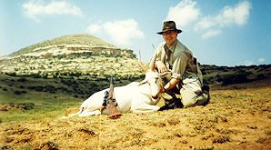 A white blesbok taken on a hunting safari in the eastern Free State.