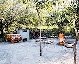 The casual boma area at the Nort West hunting camp.