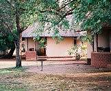 The thatched rondavels at Letaba Rest Camp.