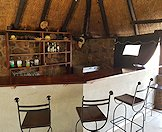 The bar area at the Zimbabwe hunting camp.