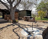 The braai area at the Zimbabwe hunting camp.