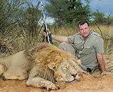 Lions are hunted on fly-in safaris in the Kalahari.