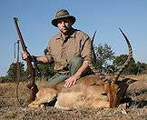 Impalas are fairly easy to find in South Africa.