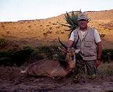 A commemorative photograph of a common reedbuck hunt.