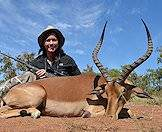 Impalas are ideal for first-time hunters.