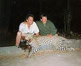 Leopards are typically hunted with bait.