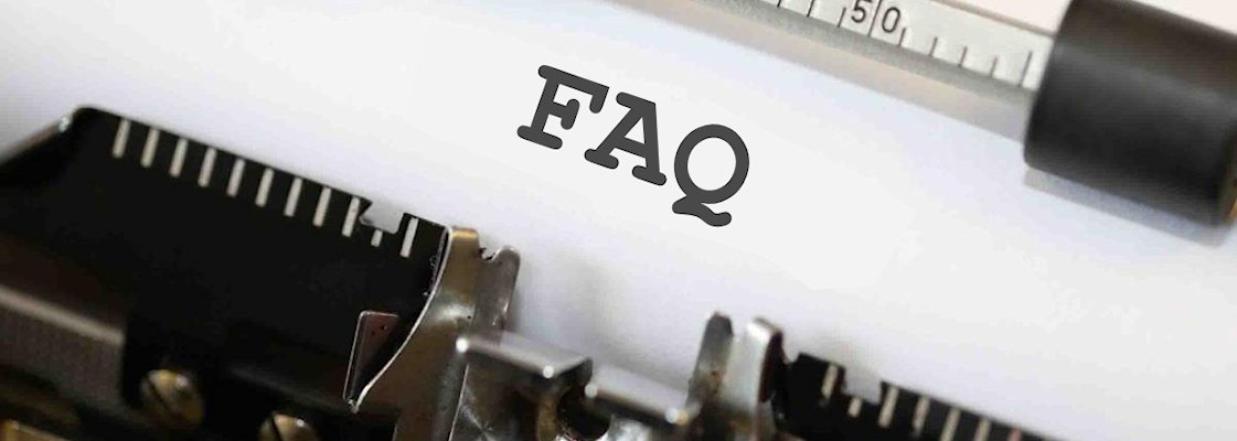 A close-up of an FAQ.