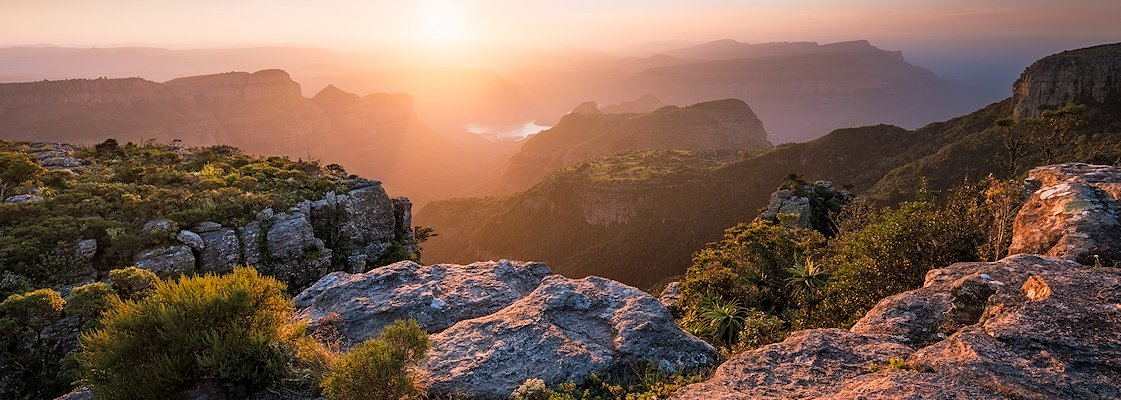 The spectacular Blyde River Canyon at sunrise.