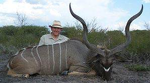 A kudu taken on a hunting package in the Eastern Cape province of South Africa