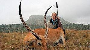 Red lechwe are not endemic to South Africa, but can be hunted on selected farms.